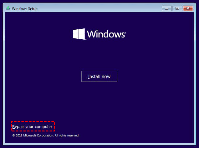 How to Repair Windows 10 without CD